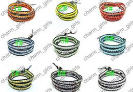 bracelets pour femmes poignets Promotion 10pcs mode féminine petits cristaux perles charmes wrap bracelet bracelet en cuir