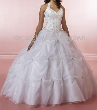 Wholesale Cheap Wedding Dresses!! White Halter Ball Gown Top Quality ...