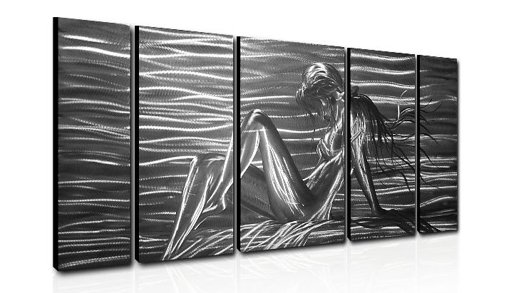 2018 Metal Wall Art Abstract Modern Sculpture Painting Handmade 5 Panle In  One Set Hb60140132 From Hogo, $159.1 | Dhgate.Com