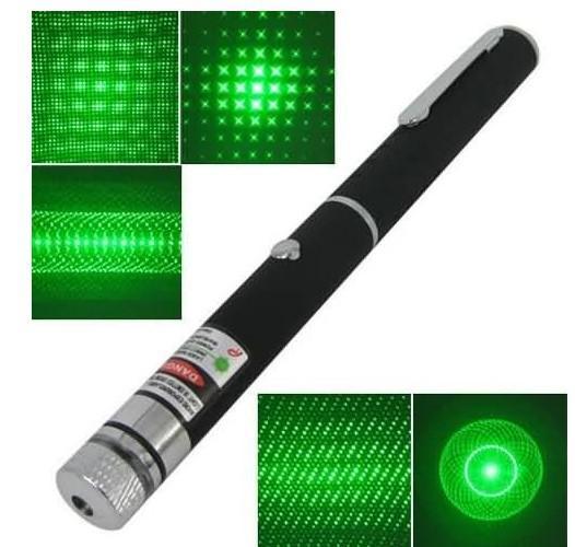 5つの異なるレーザーパターンクリスマスプレゼントが付いている532nm 5mwの緑色の光線ビームのレーザーのポインターペン