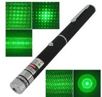 ingrosso modello a puntatore laser verde-532nm 5mW Penna puntatore laser a raggio verde con 5 diversi modelli laser Regali di Natale