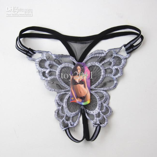 478 # forme papillon sexy dentelle confortable dames femmes string lingerie culotte slips sous-vêtements