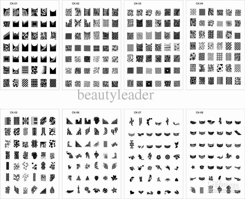 Новый!!! 336 дизайн XL средний размер штампа штамповка изображения пластины печати ногтей большой большой шаблон#0017