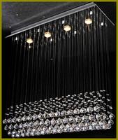 Wholesale Led Chandeleir Lighting - Chandeleir Light Free LED Bulb Batten Design K9 Crystal Thick Stainless steel base Durable steel wire Energy saving110-240v Dining room
