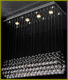 Wholesale K9 Crystals Design - Chandeleir Light Free LED Bulb Batten Design K9 Crystal Thick Stainless steel base Durable steel wire Energy saving110-240v Dining room