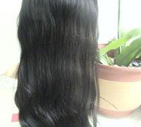 Wholesale Brown Virgin Peruvian Natural Wave - 12-24inches natural Wave Peruvian Virgin Human Hair Full Lace Wigs