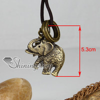 Wholesale Cheap Crosses Jewellery - elephant cross cheap gothic jewelry antique vintage style necklace Fashion jewellery