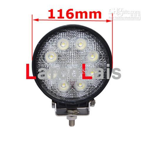 "Super Bright 4"" 24W 4WD Offroad Driving Work Flood Spot Light Truck SUV Jeep ATV 12V 24V LD77A White"
