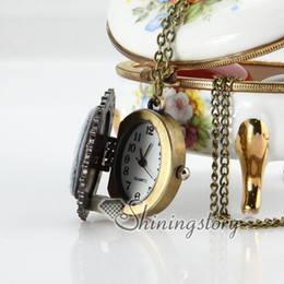 Wholesale Wholesale Cameo Watches - woman head cameo pocket chain watch vintage style mens pocket watch Fashion jewelry necklace