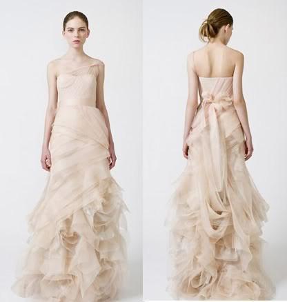 Modesto farrah elgant um ombro blush vestido de dama de honra de blair babados longo tule vestidos de organza dhyz 01