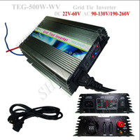 Wholesale Solar Grid Tied Inverter - 500w On Grid Tie Solar Power Inverter, DC 24v 36v 48v to AC 220V, 230V, 240V (190-260v)