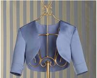 Wholesale Ivory Ruffled Wedding Shawl - Real Image Bridal Jacket With Sleeves Custom Made Color Free Shipping Taffeta Mother Dress Jacket Short Wedding Dress Wraps 2015