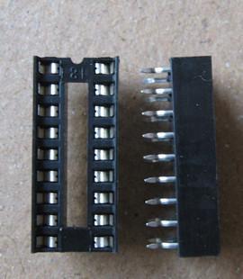 Base de chips de cuerpo ancho 16p IC zócalo de circuito integrado DIP-16 30 piezas