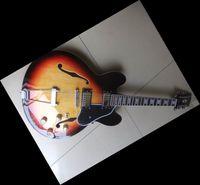 Wholesale 12 String Semi Hollow Guitars - 2011 08 13 NEW Arrival Mdel semi hollow Electric Guitar 12 strings sunburst OEM guitar Remarks