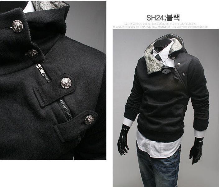 シックメンズ特別ボタンパーカージャケット5色