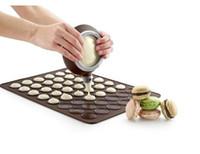 Wholesale Muffin Baking Pans - 48-Circle Macaron Mat Silicone Muffin Dessert DIY Mold baking tool