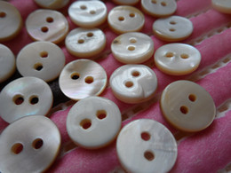 Wholesale Buttons Sewing Pearls - 100pc 12mm Natural shell pearl conch Button, slap-up DIY doll appliques sewing scrapbook Cardmaking