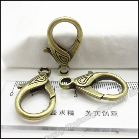 Charm fermoir pince de homard Pendentif bronze antique en alliage Bracelet Collier bricolage bijoux en métal 30pcs / lot