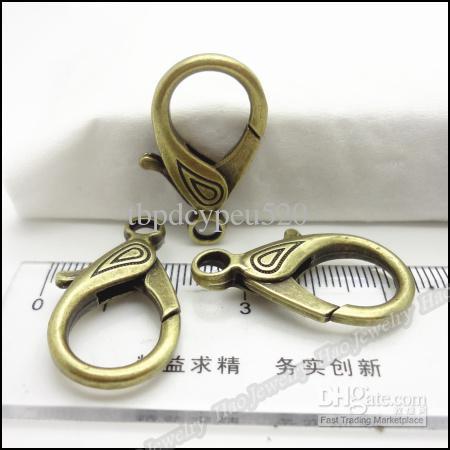 El encanto de pinza de langosta de bronce antiguo pendiente de la aleación del metal de DIY pulsera collar de la joyería 30pcs / lot