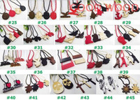 Wholesale Hiphop Good Wood - NEW Fashion hiphop colorful 173 mix styles U pick good quality wood necklace 30pcs lot