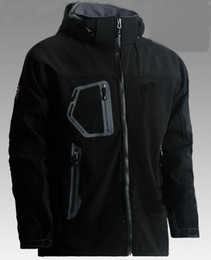 Wholesale Gore Tex Waterproof Jacket - New Brand Mens Winter outdoor sports soft shell, windproof waterproof Gore-tex warm Camping hiking jackets coats 602 Color: Black Green