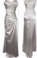 Wholesale Dress Making Pins - 2015 New Style! Strapless Long Satin Bandage Gown Bridesmaid Dress Prom Formal Crystal Pin
