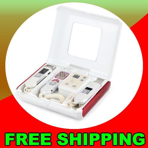 Pro 3in1 GALVANIC Ion soins de la peau Microcurrent Scrubber pour la peau LED Photon Rajeunissement de la peau machine Dispositif de beauté