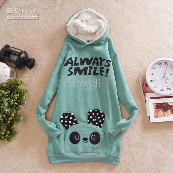 2017 New Arrive Women Winter Hoodies Panda Cute Pullover Outwear ...