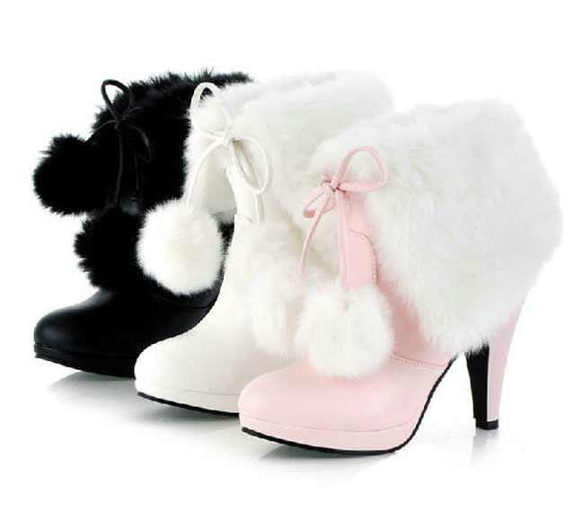 2015 Fashion Shoes Women Cute Boots Platform Pumps Boot High Heel Shoes  Boots Lady White Pink Black Size:34 43 #3662 Over Knee Boots Boots For  Girls From ... - 2015 Fashion Shoes Women Cute Boots Platform Pumps Boot High Heel