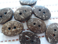 Wholesale Buttons Sewing 22mm - 100pc huge 15*22mm oval Natural coconut Button,baby DIY doll appliques sewing scrapbook Cardmaking