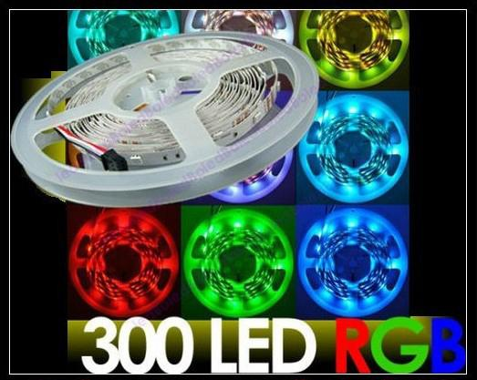 NEW 5m 5050 smd blue/red/yellow/green/white led strip waterproof 300 LEDs/Roll Interior Decoration