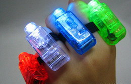 Wholesale Led Magic Ring - 5000pcs Night Light Finger Toys Magic LED Finger Light Ring Lamp Colorful Laser Light Lamp