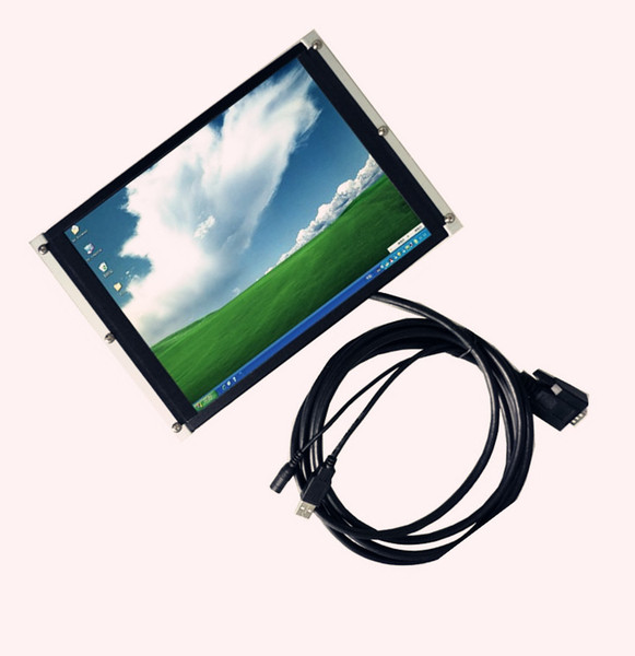 top popular 10.4 Inch HL-1042 Open Frame Desktop Headrest VGA Monitor with Touch Screen,Industrial pc Monitor pos display 2019