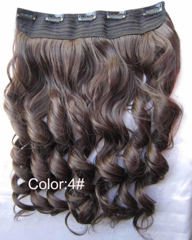 Synthetic Hair Piece Clip In Wavy Hair Extensionhalf Wig Clip In