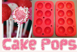 cake pop silicone mould UK - ROUND 8 POPS CAKE POP SET BAKING TRAY MOLD BIRTHDAY PARTY COOKWARE