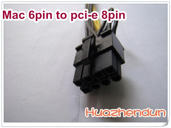 Mac Pro / G5 mini MAC MACRO 6pin a pci-e 8pin supporto cavo di alimentazione scheda video la maggior parte della scheda video