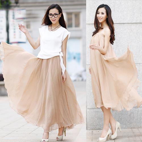 9a3e132471bd 2019 Fashion Women Chiffon Skirt Popular Skirt Long Style Ladies Skirt  Solid Color In Stock From Clothes_yym, $33.06 | DHgate.Com