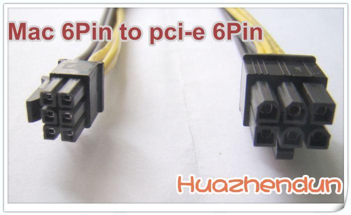 Mac Pro / G5 mini cavo da 6 pin a pci-e 6 pin scheda video 4800 4870 quadro4000 FX4