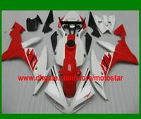 yzf r1 carenado rojo al por mayor-Kit carenado rojo blanco PARA YAMAHA 2004 2005 2006 YZF R1 YZFR1 04 05 06 YZF-R1 04-06 Carenados YZF1000
