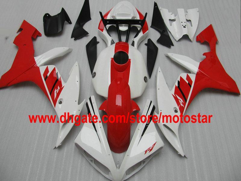 Kit de carénage rouge blanc POUR YAMAHA 2004 2005 2006 YZF R1 YZFR1 04 05 06 YZF-R1 04-06 YZF1000 carénage