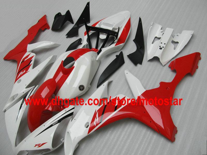 Kit de carenagem branco vermelho PARA YAMAHA 2004 2005 2006 YZF R1 YZFR1 04 05 06 YZF-R1 04-06 YZF1000 carenagens