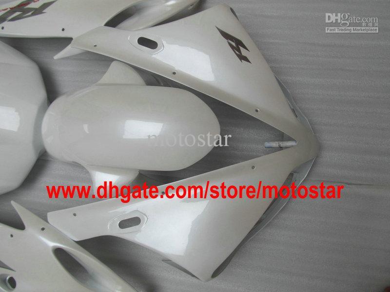 Sale pearl white custom fairing kit FOR 2004 2005 2006 YZF R1 YZFR1 04 05 06 YZF-R1 04-06 YZF1000
