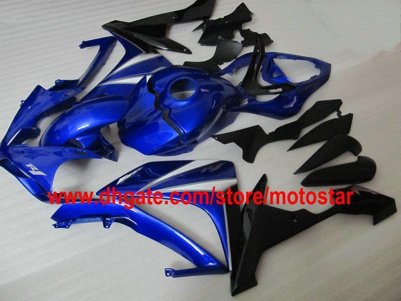 Gratis Personaliseer Blue Backings voor YZF-R1 2007 2008 YZF R1 07 08 YZF-R1 YZF1000 Fairing Kit Aangepaste kleur Aanvaardbaar