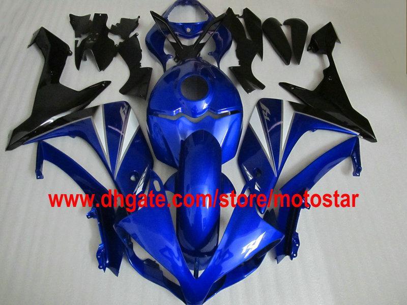 Anpassen der blauen Verkleidungen für YZF-R1 2007 2008 YZF R1 07 08 YZF-R1 YZF1000 Verkleidungssatz benutzerdefinierte Farbe akzeptabel