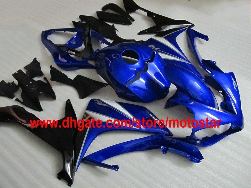 Gratis Anpassa Blue Fairings för YZF-R1 2007 2008 YZF R1 07 08 YZF-R1 YZF1000 Fairing Kit Anpassad färg acceptabel