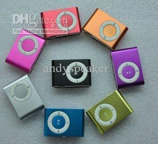 Mini Mp3 Player Clip Portable Support Micro SD/TF Card Colorful 1GB 2GB 4GB 8GB 1pcs