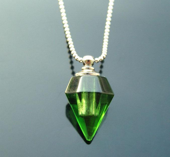Crystal perfume vials fragrance pendant vial glass vial pendant blood vials