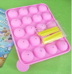 cake pop silicone mould UK - Silicone Tray Pop Cake Stick Pops Mould Cupcake Baking Mold Party Kitchen Tools
