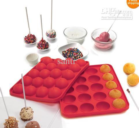 Bandeja de silicone Pop Bolo Vara Pops Molde Cupcake Ferramentas De Cozinha Do Partido Do Cozimento Do Molde