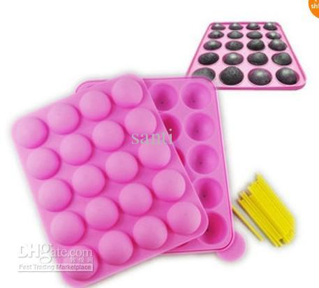 Silikon Tablett Pop Kuchen Stick Pops Form Cupcake Backform Party Küche Werkzeuge